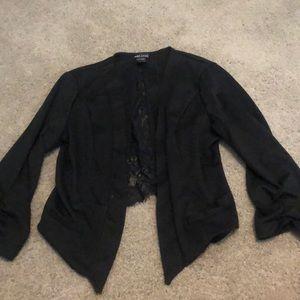 Wet Seal Black blazer with lace Sz XL